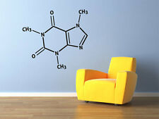 "Caffeine Molecule Vinyl Wall Decal 29x26"" Coffee Nerds Home Decor"