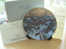 CHRITMAS EVE SCENES OF CHRISTMAS PAST CHINA PLATE BOXED CERTIFICATE W GEORGE 13