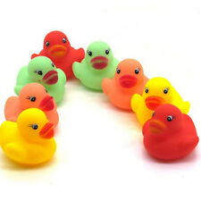 12 Lot Colorful Baby Kids Children Bath Toy Cute Rubber Race Squeaky Duck Ducky