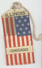 1910s MINI AMERICAN FLAG Badge USA Illinois PATRIOTIC Chicago Military 13 STARS