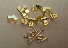 DISCOUNT ROLLER STRING TREES RETAINERS - GOLD - GUITAR PARTS