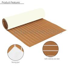 Brown Self Adhesive EVA Foam Teak Sheet Boat Yacht Synthetic Decking 35'' X 91''