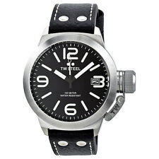 TW Steel Canteen Black Dial Stainless Steel Mens Watch TW2R