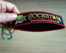ROCKSTAR Keychain Keyring Embroidered Fabric Strap Holder Tag Motorcycle Bike