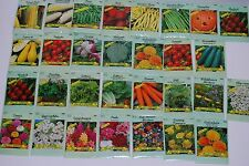 Lot Of 30pc Assorted Vegetables Plants Plant Flower Seed Free Shipping