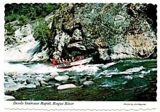 Devils Staircase Rapid Rogue River Vintage Postcard Gold Beach Oregon Wild Trip