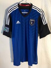 Adidas Authentic MLS Jersey San Jose Earthquakes Team Blue sz XL