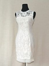 NWOT ModCloth Rehearsal Dinner Darling in Ivory Illusion Neckline Sheath Dress M