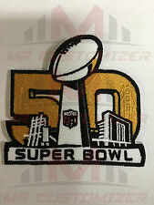 National Football League NFL Super Bowl 50 Golden Logo Iron-on Jersey PATCH!