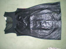 BNWOT SEXY STRETCH LEATHER LOOK TOP/DRESS BLACK MEDIUM 12/14