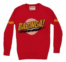 Big Bang Theory Bazinga Knit Pullover Sweater Adult L Sheldon Cooper Jim Parsons