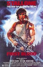 "FIRST BLOOD Silk Fabric Movie Poster 24""x36"" Stallone Rambo"