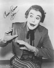 Cesar Romero Signed Reprint Batman Joker 8x10 Photo 003