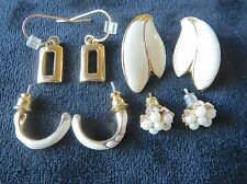 Lot of Vintage Costume Jewelry Earrings