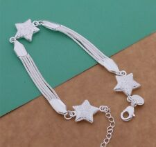 925 GORGEOUS TRIPLE SHOOTING STAR WISH CHARM WISH BRACELET PENTAGRAM SKY GODDESS