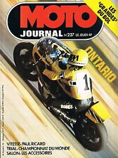 ▬►Moto Journal 237 (1975) Kenny Roberts_Réglages BSA_Martin Lampkin