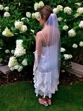 Handmade Fingertip Veil from Ivory Vintage French Lace