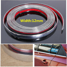 12mm * 3M Car Styling Chrome Moulding Trim Strip Decor Adhesive Strip cover Tape