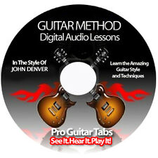 JOHN DENVER Guitar Tab Software Lesson CD + BACKING TRACKS + FREE BONUSES
