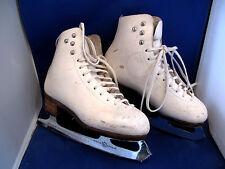 Ladies Girls Women's size 5 KLINGBEIL ice white leather figure skates MK blade
