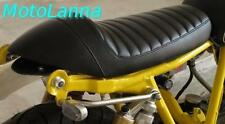 Seat Cafe Racer Yamaha SR500 SR400 XS650 XV CB Cafe Racer Black w/ Red Stitch