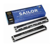 SEYDEL & Söhne Sailor Steel Tremolo Richter Mundharmonika - 26480 in G