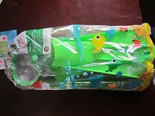 NEW Speedo Kids' Discovery Mask, Snorkel & Fin Set  L/XL Green shoe size 3-5