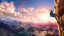 "Hot The Legend of Zelda Breath of the Wild New Game Art Silk 25""x14"" Poster"