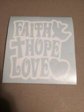 Faith Hope Love Vinyl Die Cut Decal,window,car,Funny,truck,laptop,iPad,cross