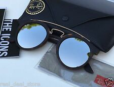 Authentic RAY-BAN DOUBLE BRIDGE GATSBY Silver/Tortoise Gold RB4256F 47mm 6092/6G