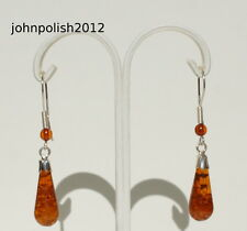 Cute Baltic Amber Icicles Earrings on Silver 925