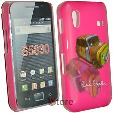 Cover Custodia Per Samsung Ace S5830 Paul Smith Mini  Cooper Fucsia  + Pellicola