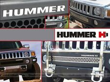 CHROME MIRROR HUMMER H3 2006-2010 FRONT BUMPER LETTERS INSERTS H-3 NOT DECALS