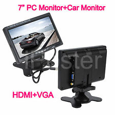 7 Inch Color LCD Screen HD 800 x 480 HDMI + VGA Interface Car Rear View Monitor
