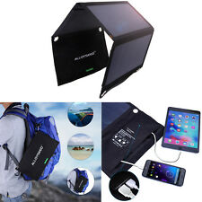21W Solar Power Foldable Panel 2USB Charger for iPhone7 Phone iPad Travel Hiking