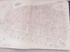 1885 MANHATTAN ROBINSON COPY ATLAS MAP LOWER MANHATTAN CITY HALL BATTERY PARK