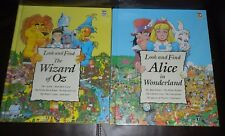 Look and Find Books - The Wizard of Oz & Alice In Wonderland LOT OF 2 Large HC's