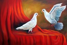 "Cuban Art ""Love is in the air"" Oil painting 18""x 12"" Signed by Artist."