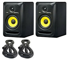 TWO NEW KRK RoKit 5 G3 Studio Monitors w/FREE XLR 20ft CABLES & FREE SHIPPING!
