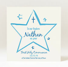 Personalised Boy's First Holy Communion Christening Naming Ceremony Card