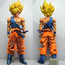 Anime Dragon Ball Z Super Saiyan Goku PVC Action Figure Collectible Statues 34cm