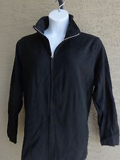 New Just My Size Cotton Blend French Terry Zip Front Mock Neck Jacket 3X Black