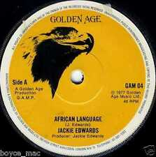 "golden age 7"" : JACKIE EDWARDS-african language  (hear)"