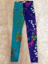 Sold Out Versace for H&M Blue Floral Leggings size EUR 34 USA4 EUC