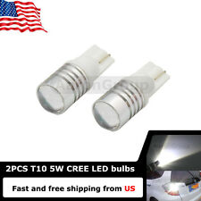 2PCS White T10 168 W5W 921 912 Cree High Power LED Bulbs Reverse Back up Lights