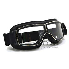 Leather Eyewear Goggles Aviator Pilot Glasses Driving Riding Biker Motorcycle
