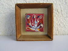 Vintage marvelous wall decor Enamel on copper painting