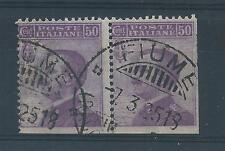 FRANCOBOLLI 1908 REGNO MICHETTI 50 CENTESIMI NON DENTELLATO IN BASSO B/3257