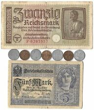 Rare Collectible Old WWI WWII Nazi Germany War Coin Note German Collection Lot