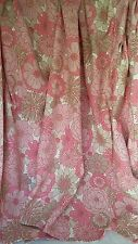 "RETRO VTG 60s 70s ST MICHAEL M&S PINK FLOWER POWER CURTAINS 60"" W X 50"" L"